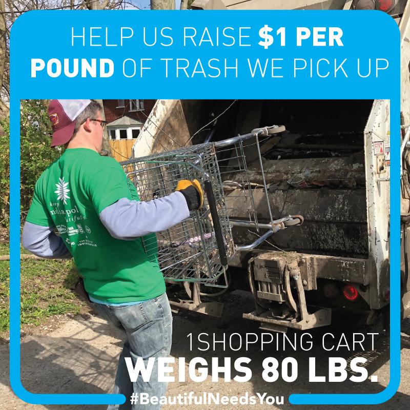 volunteer loading cart into packer truck
