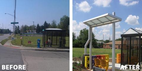 Devington Bus Shelter and Greenspace